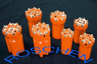 Cina GT 60 Retract Ballistic Button Bits T45 89 mm For Top Hammer Drilling pemasok