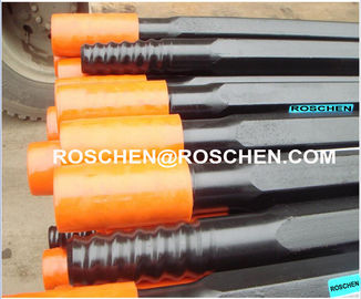 R38 T38 T45 T51 Standard Type rock drill rods , Tungsten Carbide steel drill pipe