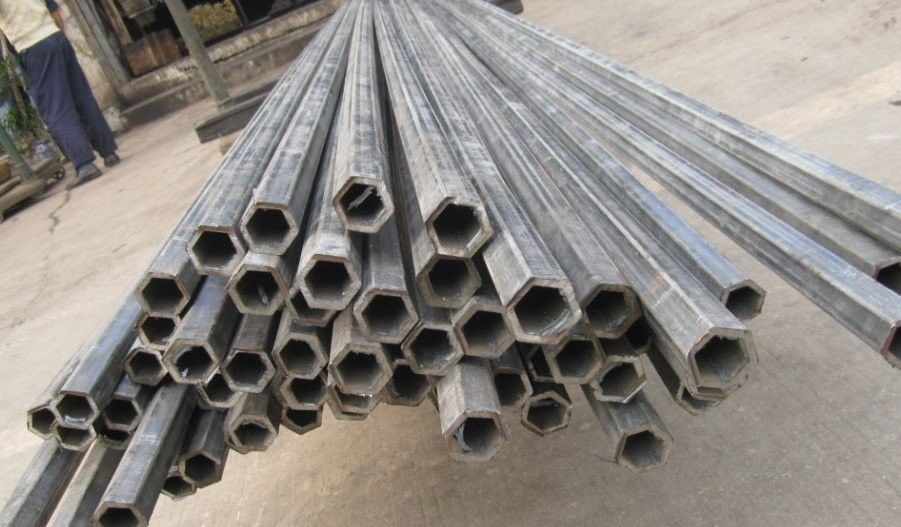 Astma perforated hexagonal hollow steel tube thick